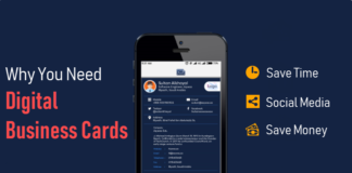 Digital business card app for Android