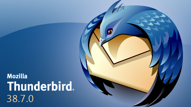 Mozilla Thunderbird 38.7.0 version is here