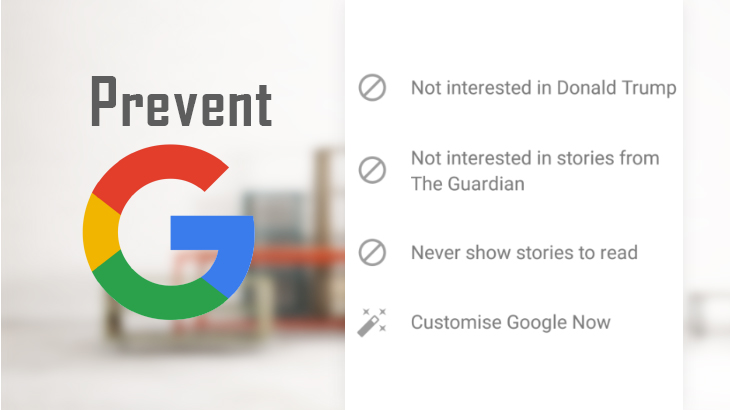 Prevent Google Now from showing unwanted stories