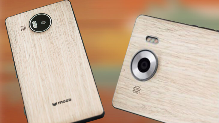 Preorder Mozo Wood wireless charging back covers for Lumia 950, 950XL