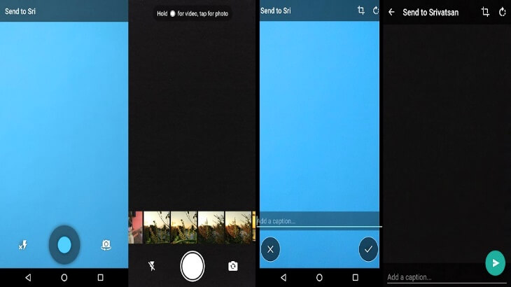 New WhatsApp for Android update dubbed 2.16.5 redesigns its in-app camera UI