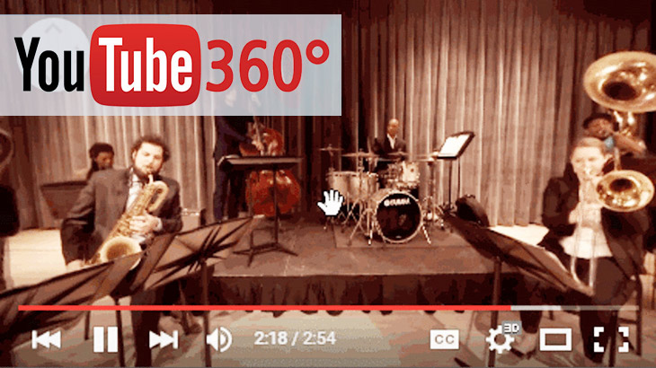 360-degree YouTube live streaming with spatial audio
