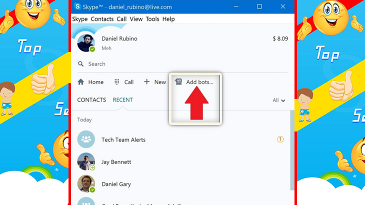 Interactive Skype Bots on Windows Desktop