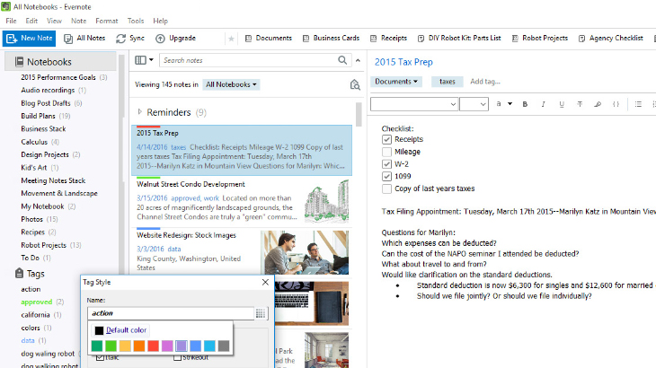Evernote for Windows update brings color coded notebooks, better search and more