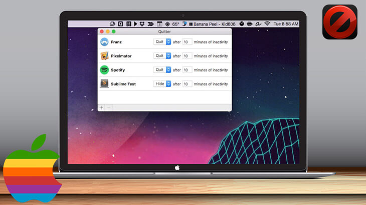 Quitter for Mac review: easy way to automatically quit or hide inactive apps