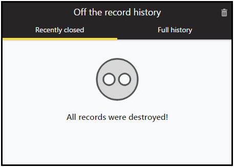 Off The Record History