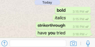 How to access new WhatsApp text formatting options