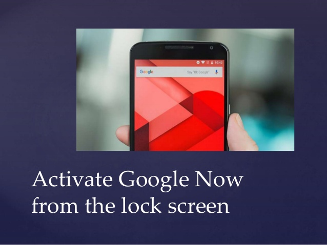 Activate Google Now from Lockscreen