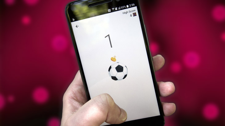 Facebook Messenger's hidden soccer game