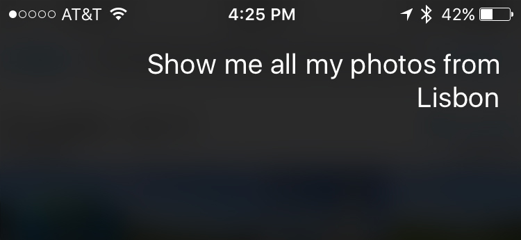 Find Photos Siri