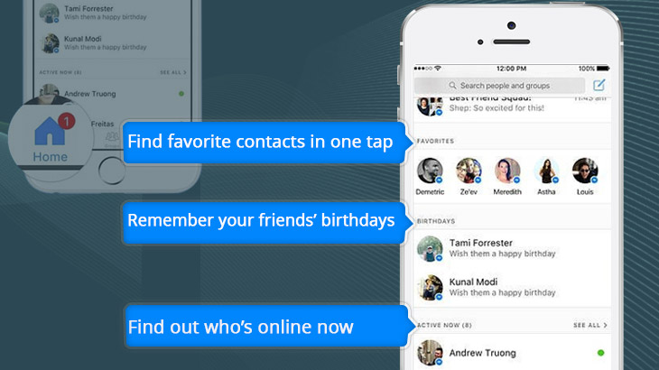 Facebook Redesigns Messenger