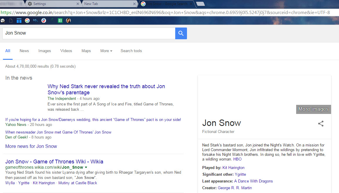 9. Search in New Tab