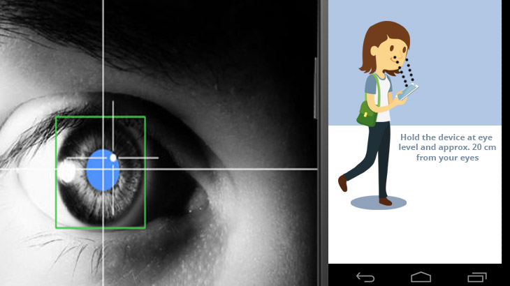 Control smartphone with eyes