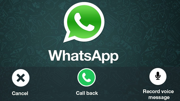 WhatsApp beta brings voicemial and call back features