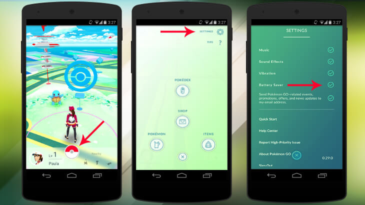 save battery life in Pokémon Go