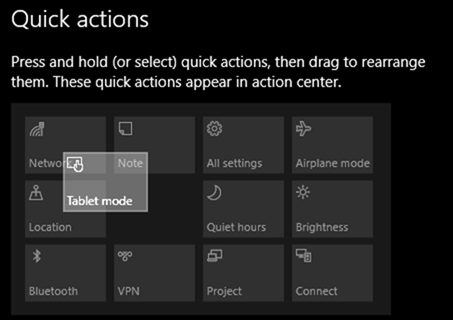 Customize Quick Actions