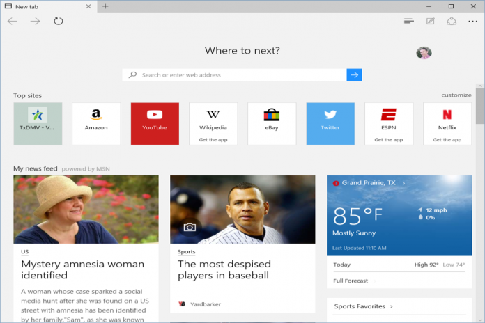Edge as default browser