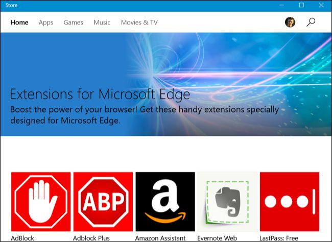 List of extensions for Microsoft Edge