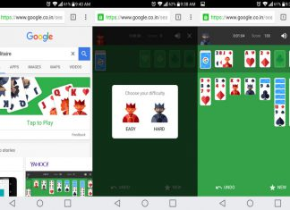 play Solitaire in search results