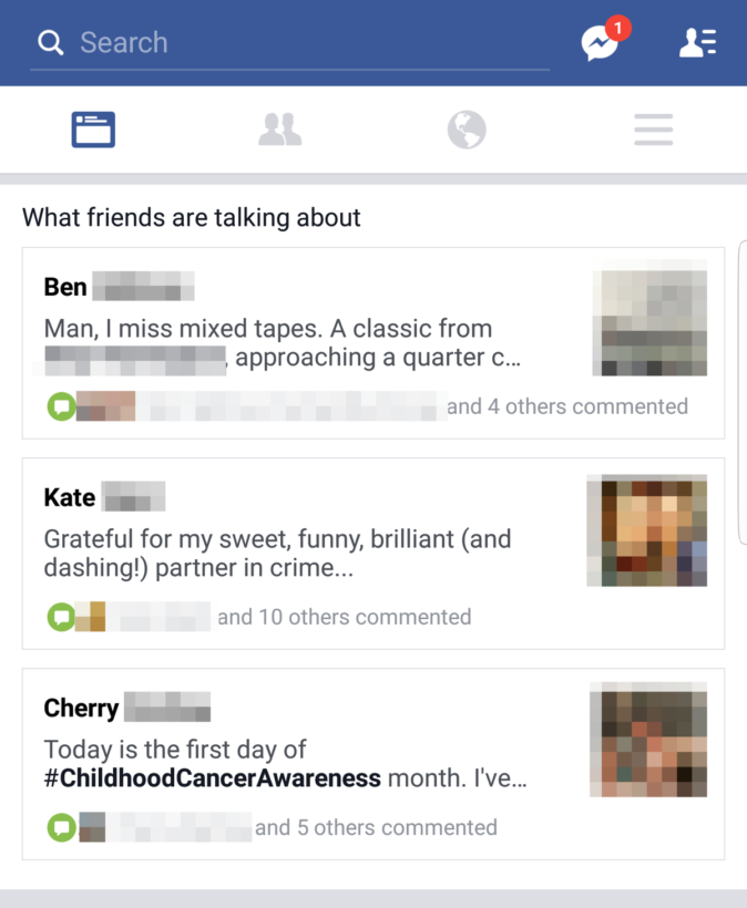 Facebook testing a new feature