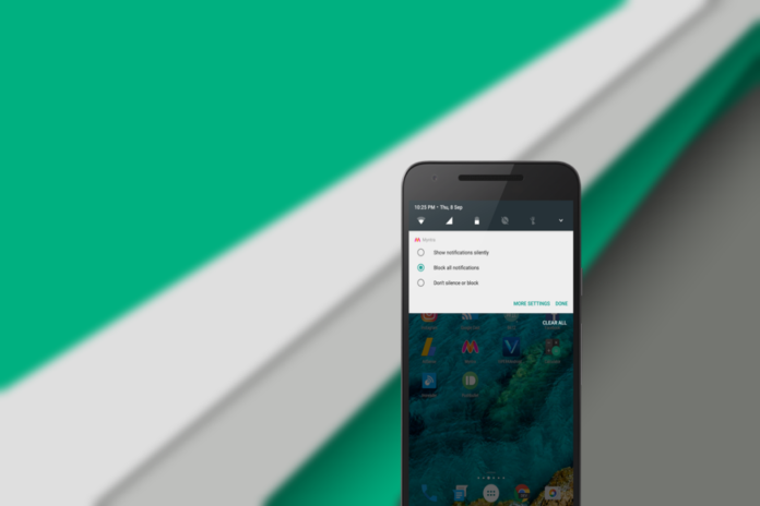 block apps notifications in Android