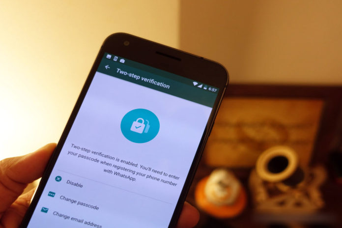 WhatsApp enables two step verification