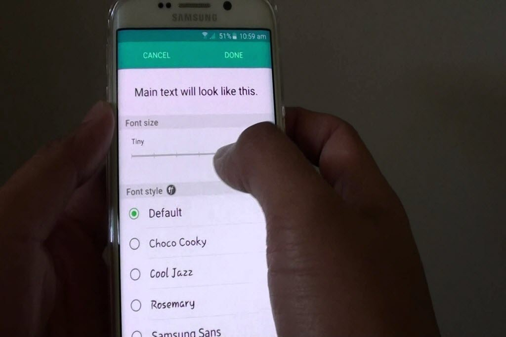 4 easy ways to change fonts on Android phone