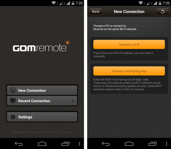 How to remote control gom player for windows from android or ios gom remote screen sciox Gallery