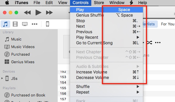 itunes-keyboard-shortcuts