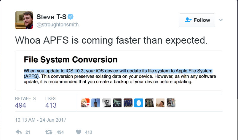 App Store reviews for iOS and Mac apps File System Conversion