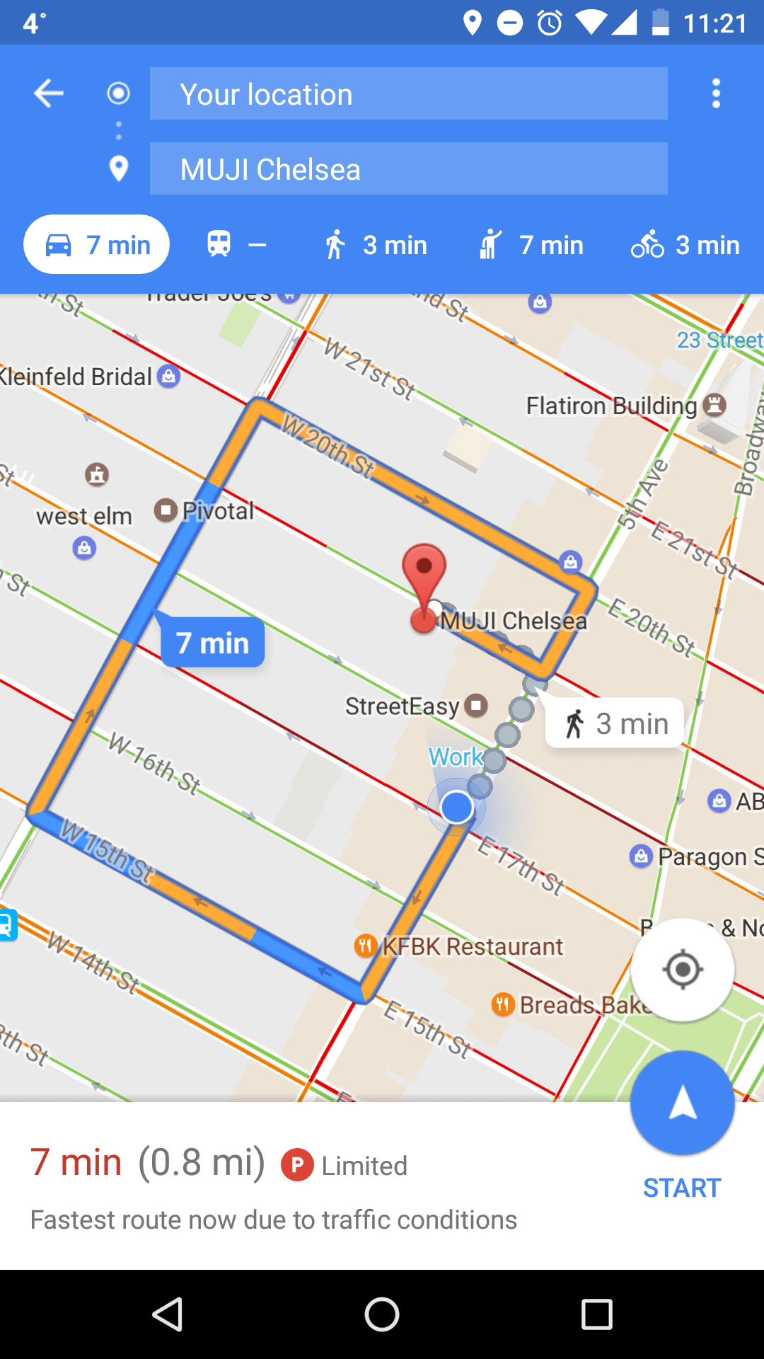 Google Maps Beta adds parking info and shows parking availability status