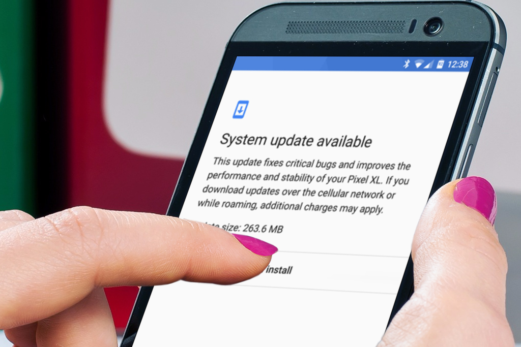 How to manually check system updates in Android