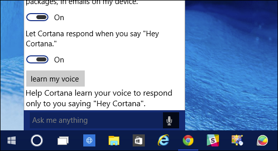 Activate Cortana in Windows