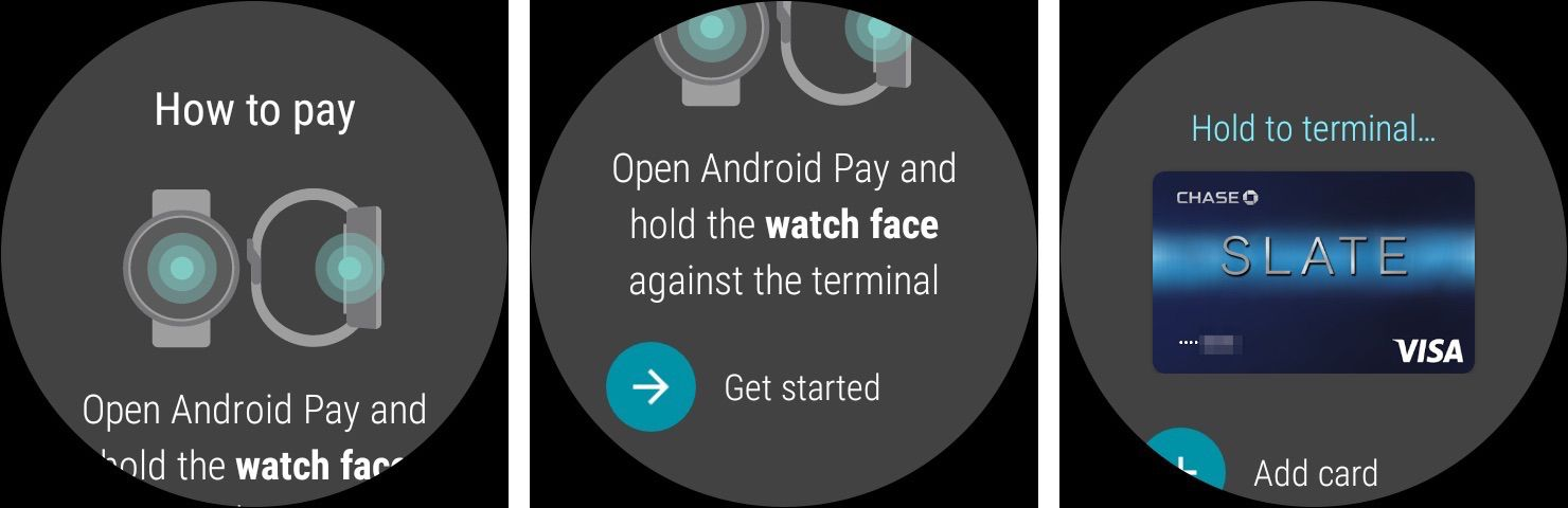 Make payments using Android Wear smartwatch