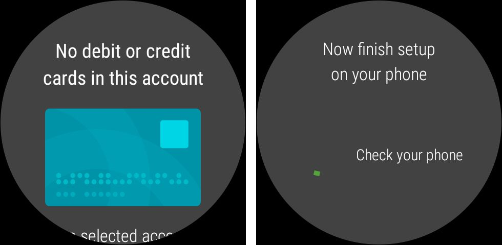 Set up to pay using Android wear smartwatch