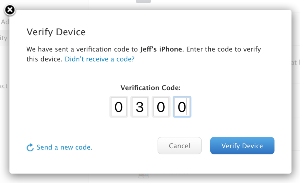 Add two-factor verification