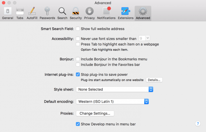Clear-Browser-Cache-Safari-Advanced-settings