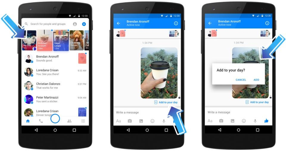 How to view a friend's Messenger Day post