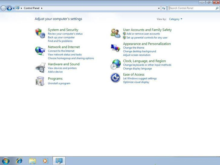 Open Control Panel on your PC