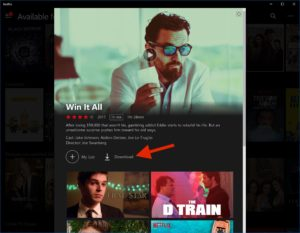 Download Netflix Shows on Windows 10 - Finding Download Titles