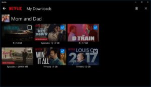 Download Netflix Shows on Windows 10 - My Downloads Section