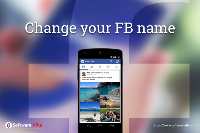 how to change the account name on facebook