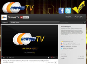 Mobile Channels on YouTube-Newegg