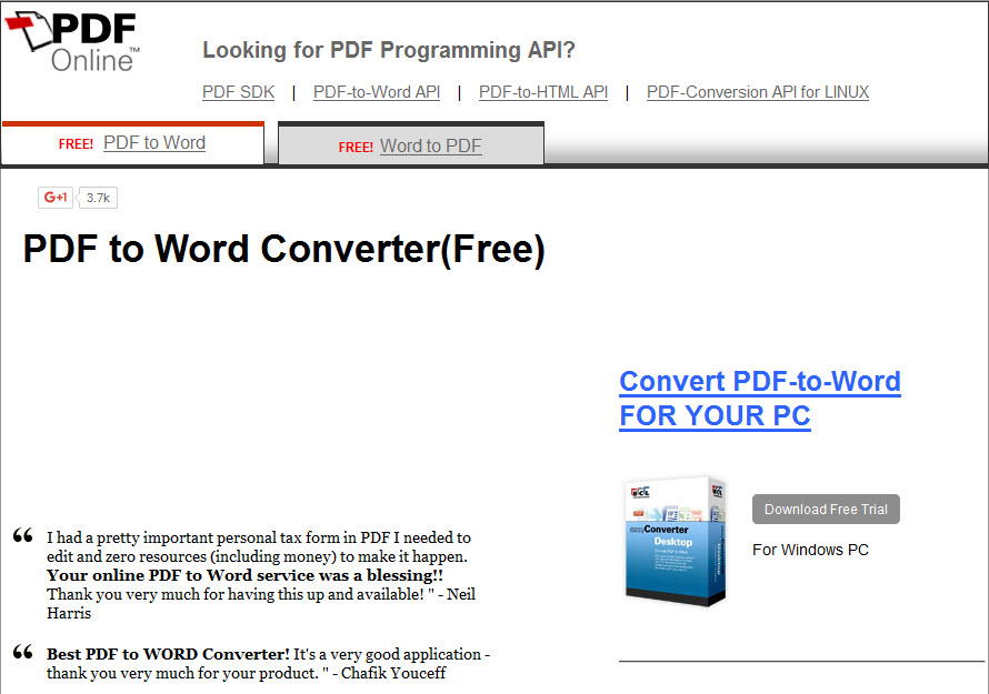 how to convert pdf to word free download online