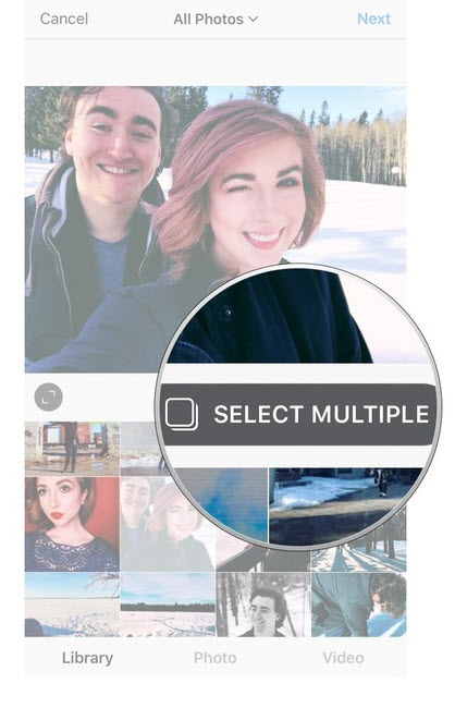 Share Multiple Photos in One Instagram Post-Select Multiple