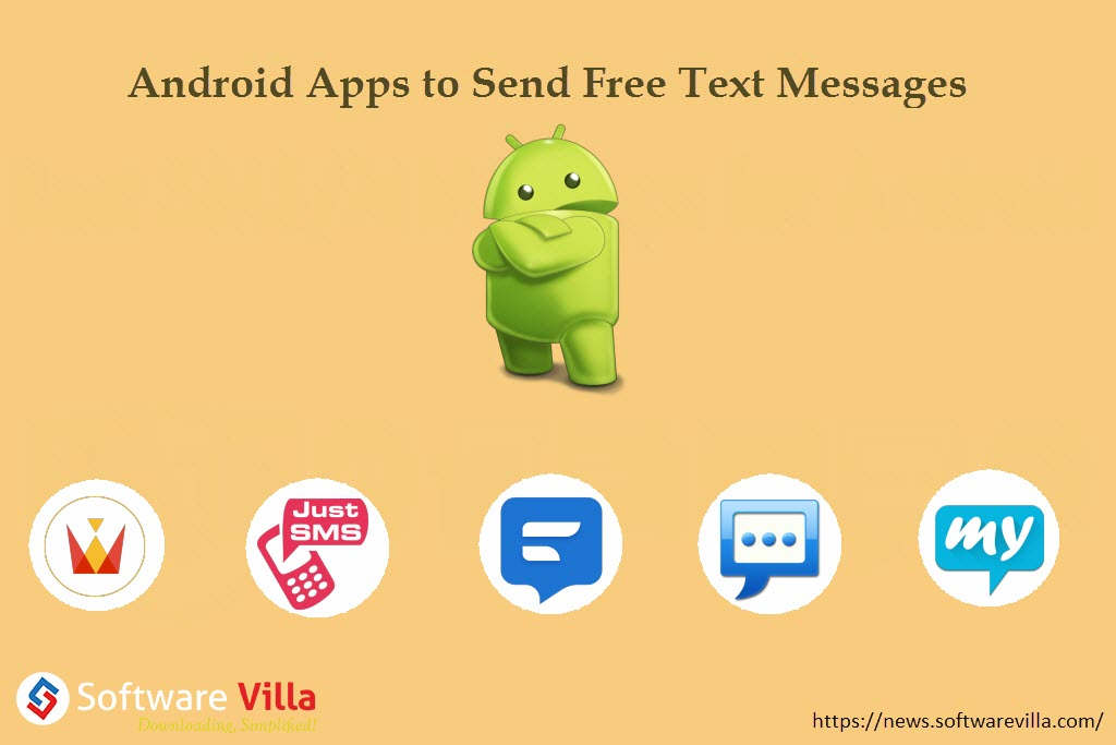 5 best android apps to send free text messages. Black Bedroom Furniture Sets. Home Design Ideas