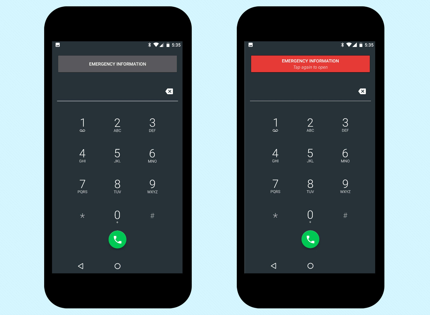 Add Emergency Info in Android Nougat - Tap Emergency button