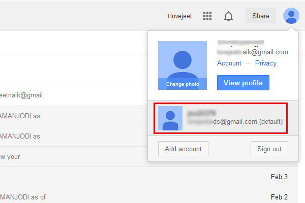 Handle Multiple Gmail Accounts - Switch between Gmail accounts