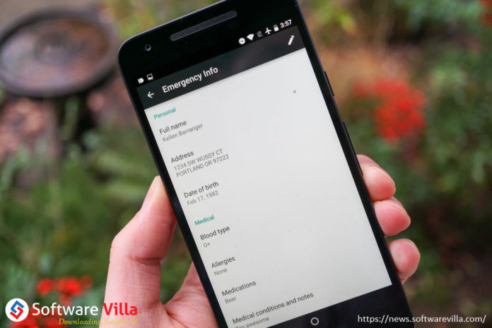 Add Emergency Info in Android Nougat