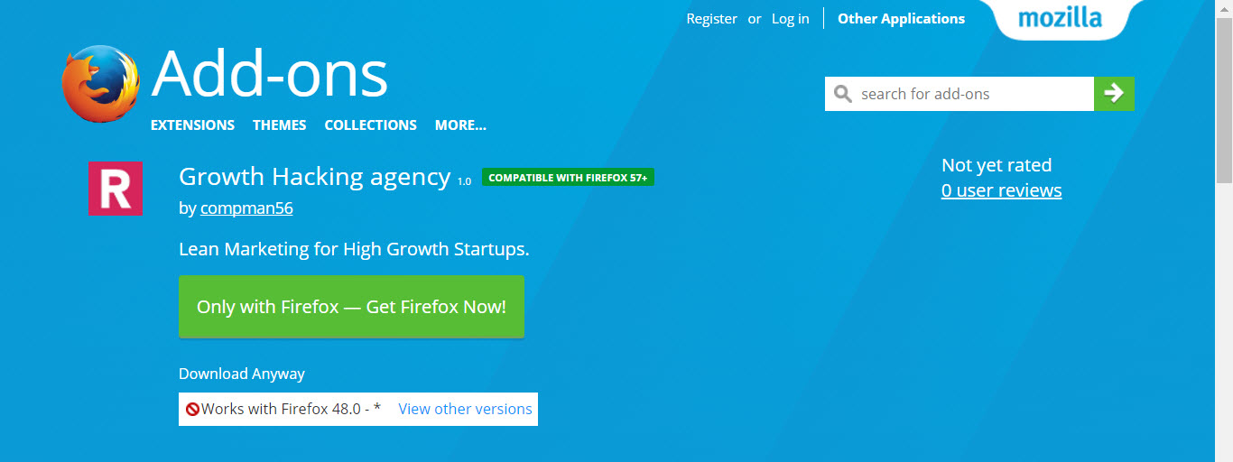 Newest Firefox Extensions - Growth Hacking Agency